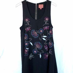 LULUS I. Madeline embroidered swing dress Size M